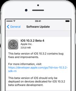 ios 10.3.2 beta yayınlandı