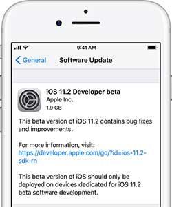 ios 11.2 güncelleme