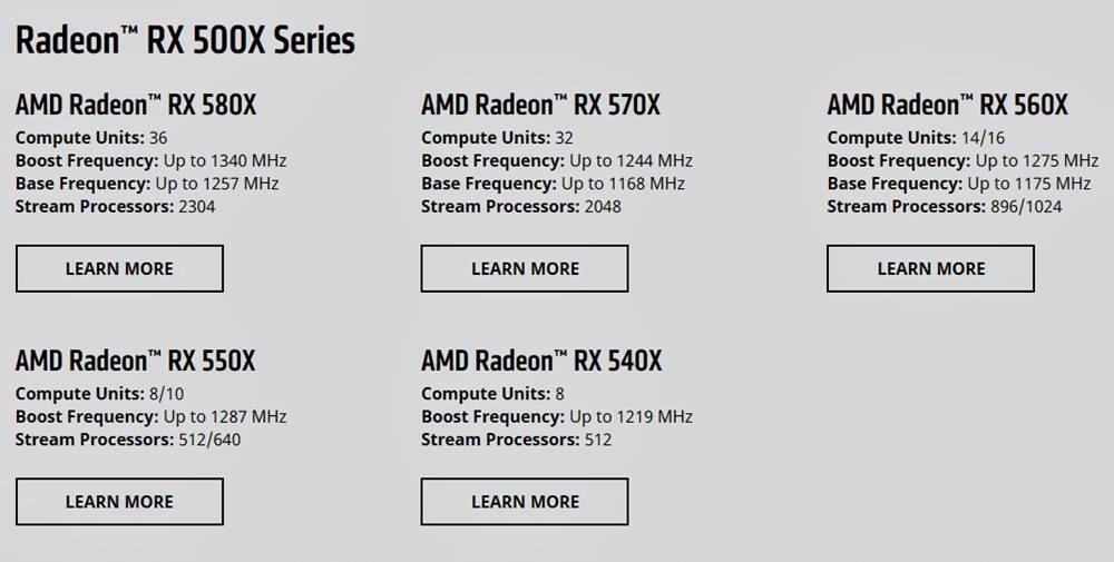 AMD Yeni Radeon RX 500X Serisi Ekran Kartlarını Duyurdu