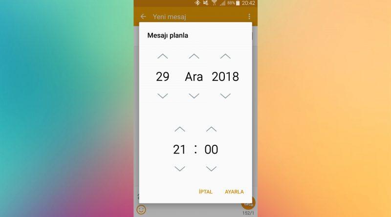 Android Cihazlarda Planlı Mesaj Gönderimi Yapılır mı?